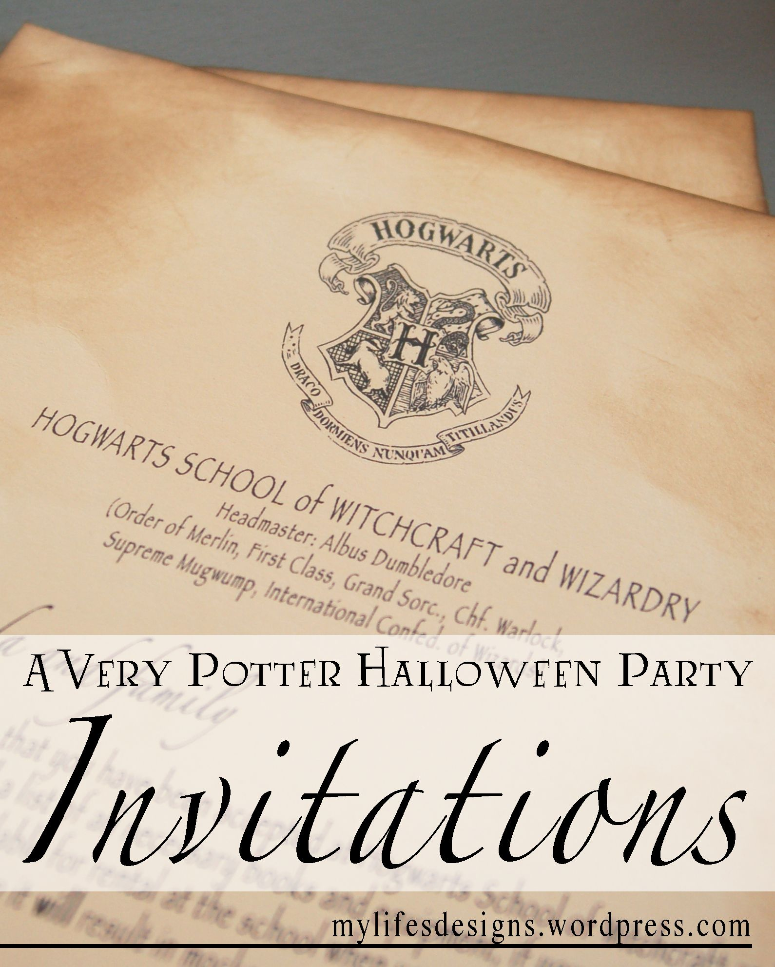 Free Downloads To Create Your Own Harry Potter Party Invitations Or Acceptance Letter