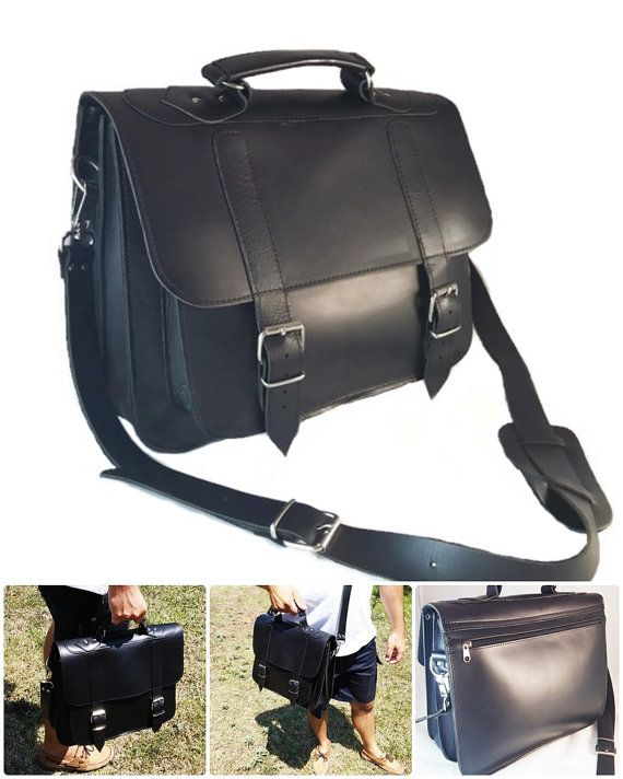 c15bc83f2996 Leather Messenger Bag 13 inch Laptop. Handmade by LeatherStrata ...