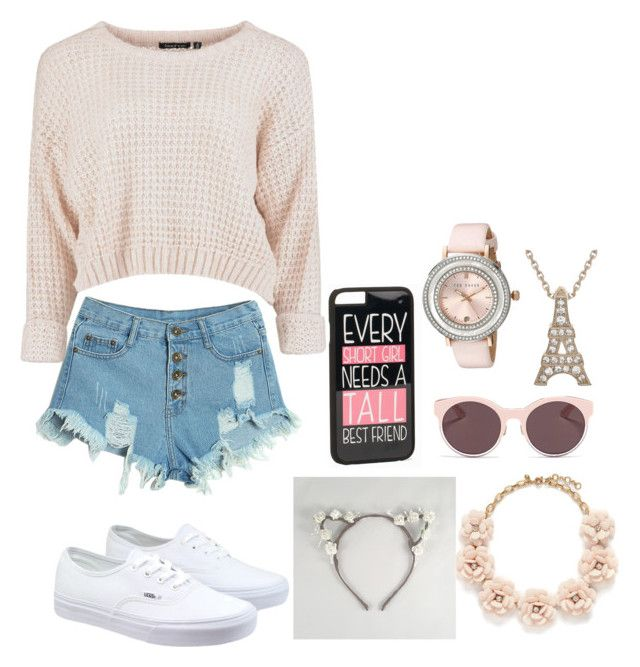 """""""Cute cat."""" by snow373 on Polyvore featuring WithChic, Vans, JFR, Ted Baker, J.Crew, Christian Dior, women's clothing, women's fashion, women and female"""