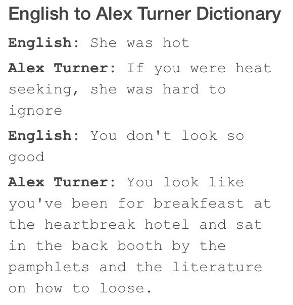 Alex Turner Is Such A Flippin Genius I Can T Get Enough Of Him