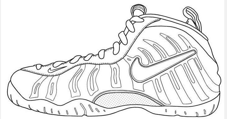 Nike Foamposite By Beatriceuio Shoe Template Coloring Pages