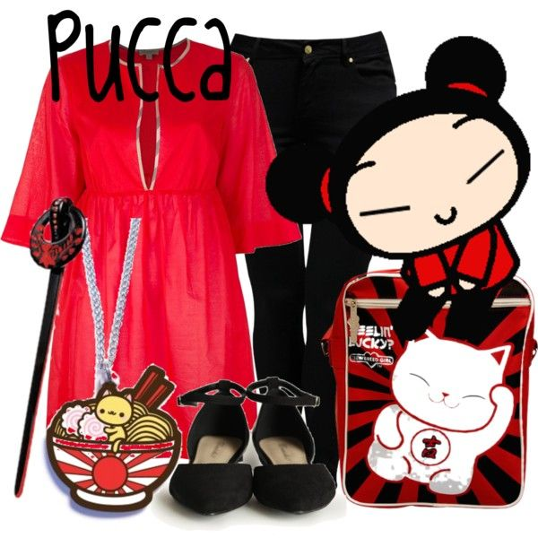 """Pucca"" by likeghostsinthesnow on Polyvore"