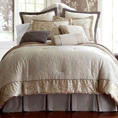 Guest room?   Royal Velvet® Marseille Comforter Set & More - jcpenney
