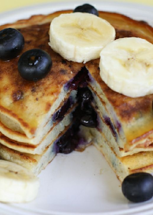 Low FODMAP Recipe and Gluten Free Recipe - Banana & blueberry pancakes  http://www.ibs-health.com/low_fodmap_banana_blueberry_pancakes.html
