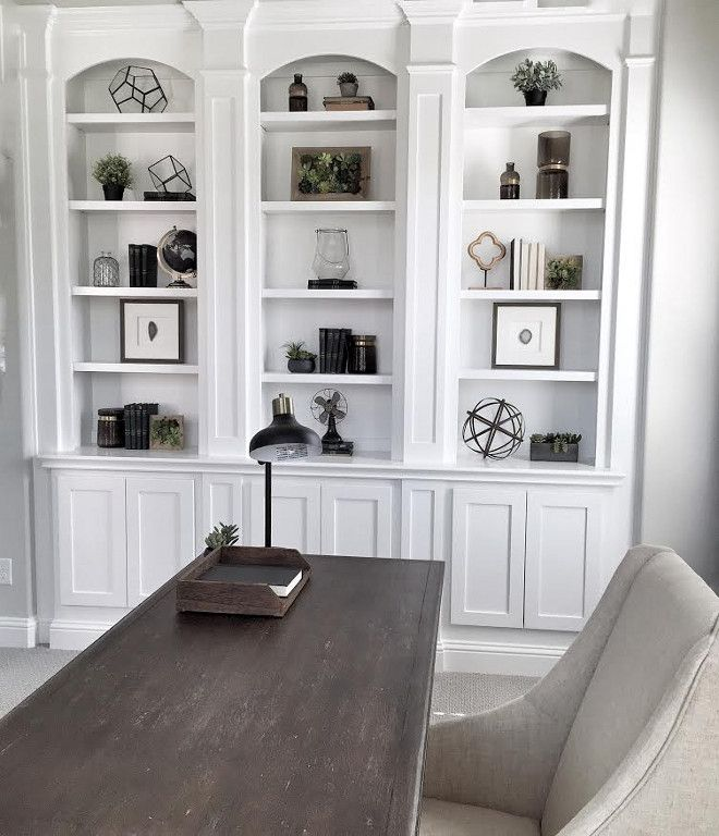 Home Office Built Ins. Home Office Arched Built In Shelves. White Home  Office Built Ins. Home Office Arched Built In Shelves Mytexashouse