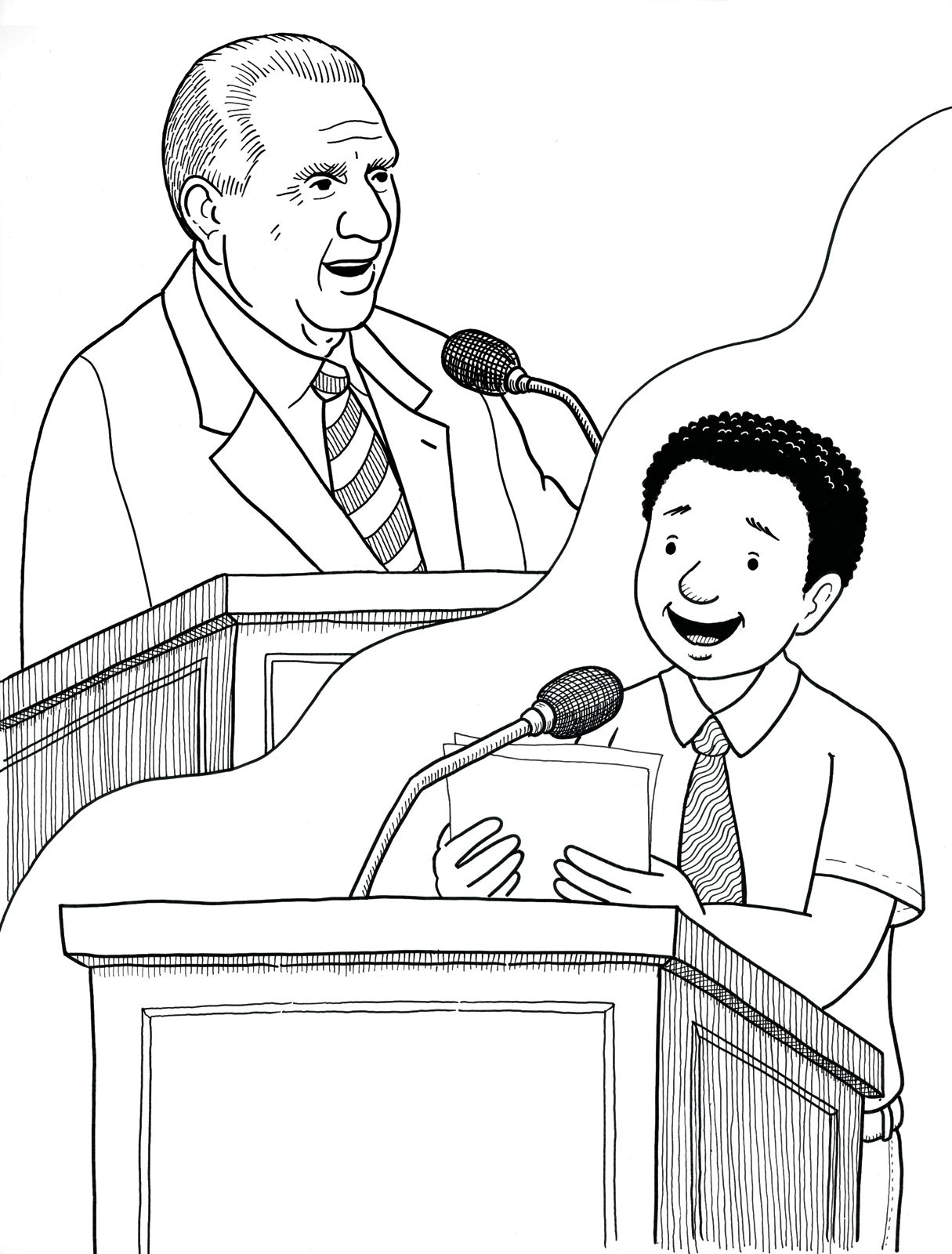 I can give a talk just like President Monson! Primary coloring page ...