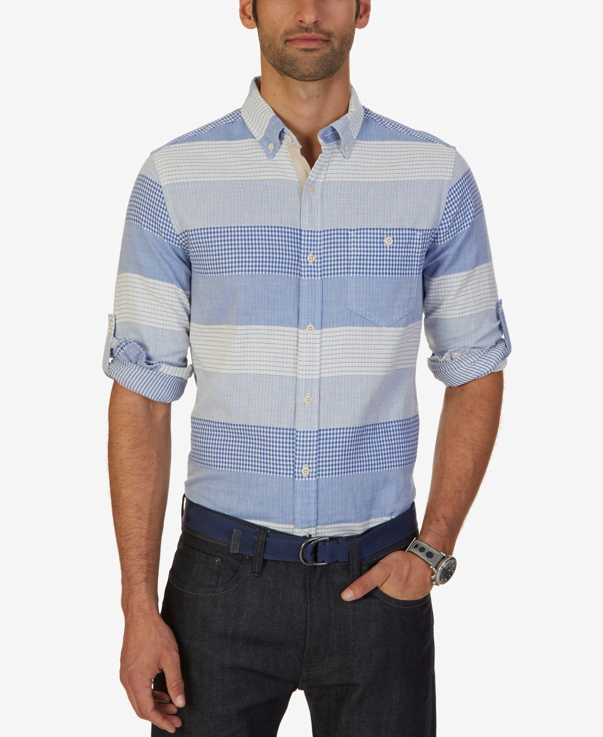 Flannel shirt with khaki pants  Nautica Menus Plaid Stripe Shirt  Menswear  Pinterest