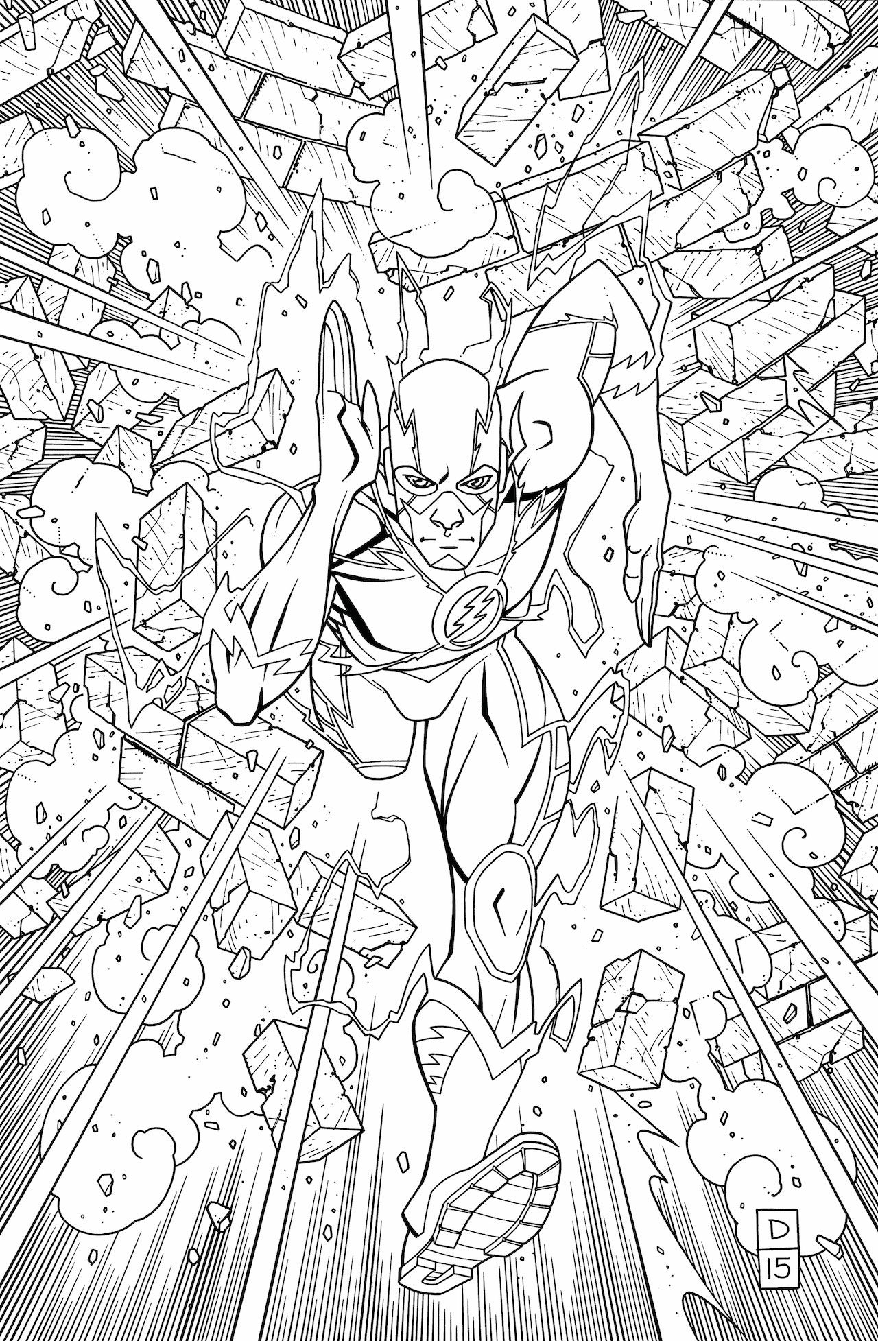 The flash coloring pages - The Flash An Adult Coloring Book Tp