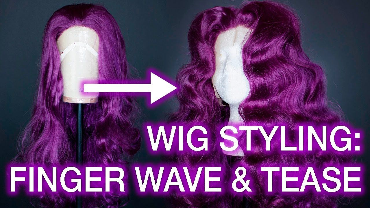 Curling And Teasing Synthetic Wigs Centre Part Wig Styling Tutorial Wig Styling Tutorial Drag Wigs Diy Wig