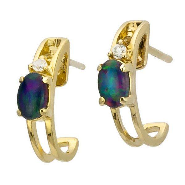 AUSTRALIA OPAL - Opal Earrings (E2200GB), $110.00 (http://www.australiaopal.com.au/opal-earrings-e2200gb/)