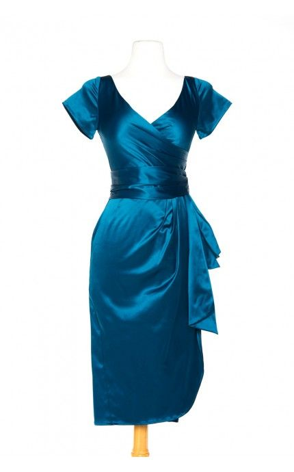 Pinup Couture - Ava Dress in Teal - Plus Size | Pinup Girl Clothing