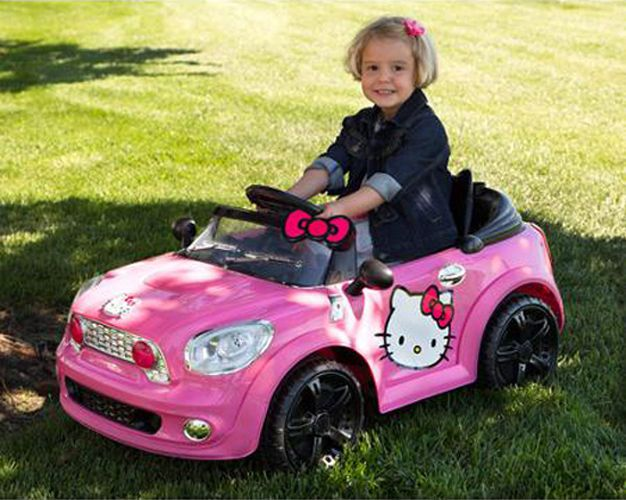 Hello Kitty Toy Car For Girls : Hello kitty battery powered electric car kids toy