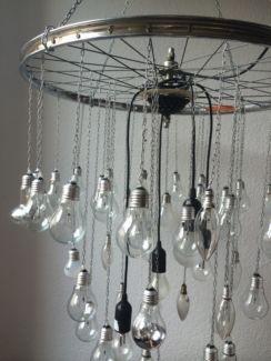 Kronleuchter Trash Chandelier Lampe Kunst Fahrradteile