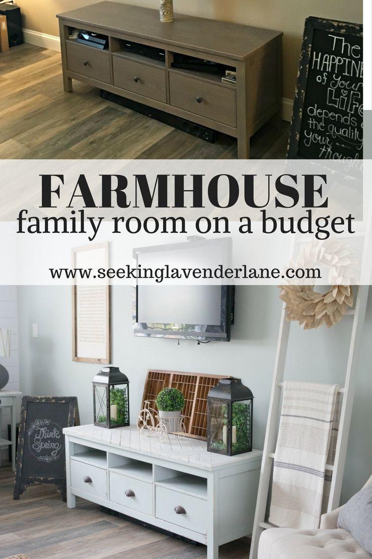 Farmhouse family room on a budget farmhouse style u living in