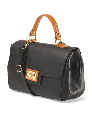 Valentina - Made in Italy Leather Half Flap Satchel - at TJ MAXX online.
