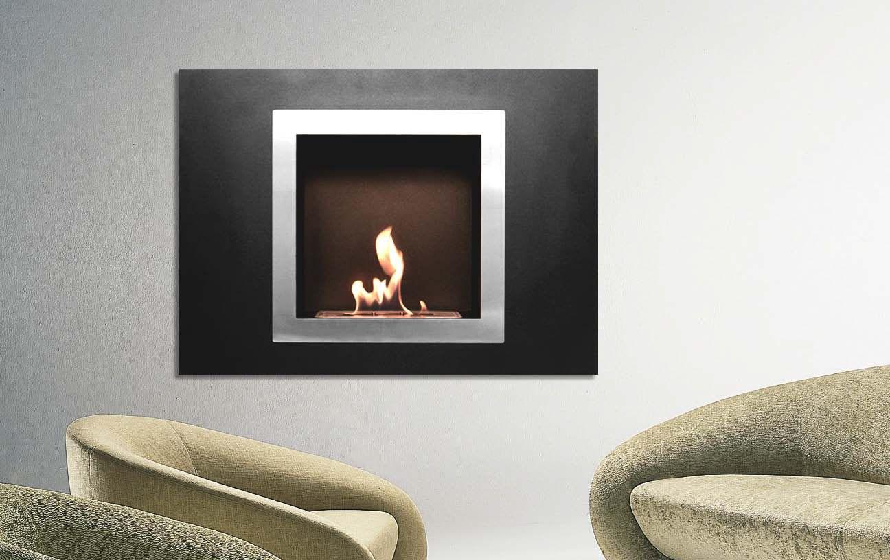Designer fire uzurichu bio ethanol fireplace wall mounted bio