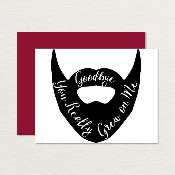 Funny Goodbye Card \/ Printable Goodbye Card \/ by Brainooli on Etsy - farewell card template
