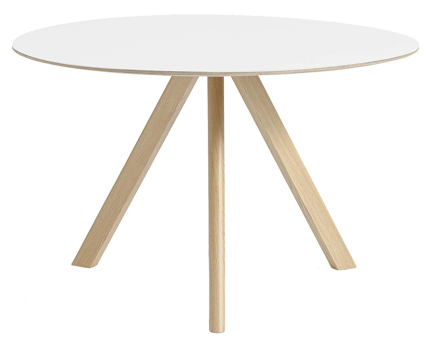 Ronde tafel in hout en laminaat of linoleum tafels