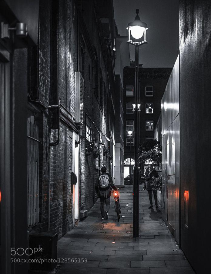 Cyclist in the dark