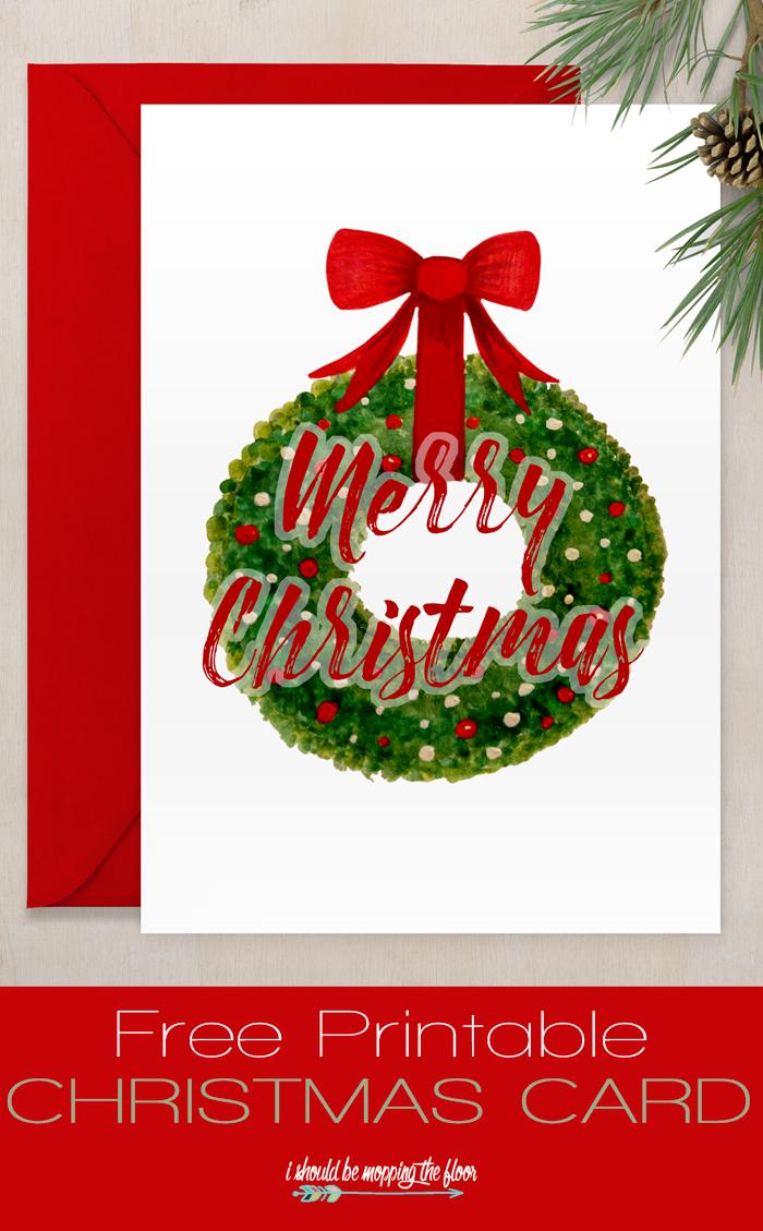 Free Printable Christmas Card | Christmas / Winter | Pinterest ...