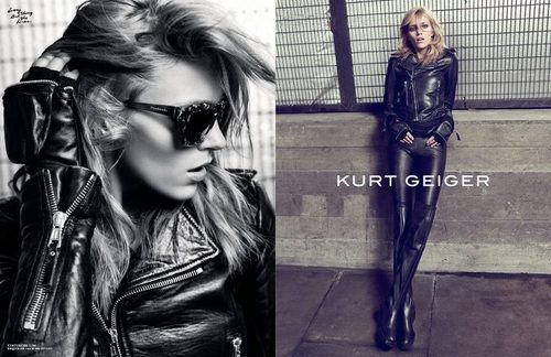 Anja Rubik for the Kurt Geiger fall/winter 2012-2013 ad campaign.