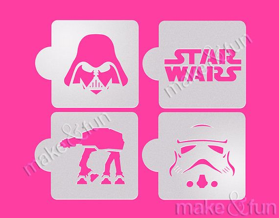 4 pc star wars au pochoir a rographe darth vader visage pinting pochoir d kuchen code de - Pochoir star wars ...