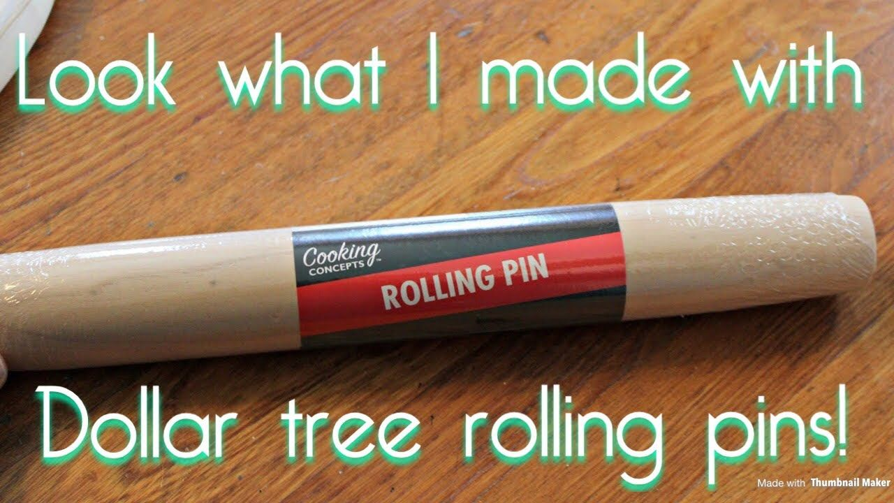 Look what I made out of dollar tree rolling pins |