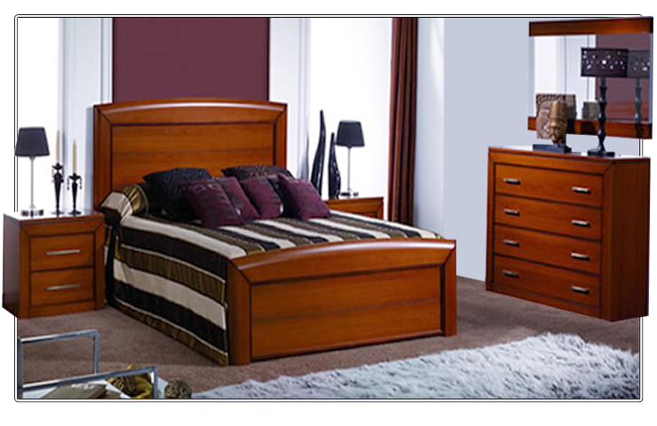 Dormitorio de matrimonio de estilo cl sico formado por - Somier cama matrimonio ...
