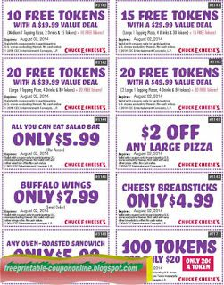 Chuck E Cheese Coupons FebruaryPrintable Coupons For Tokens Food And Free Tickets At Chuck E Cheeses