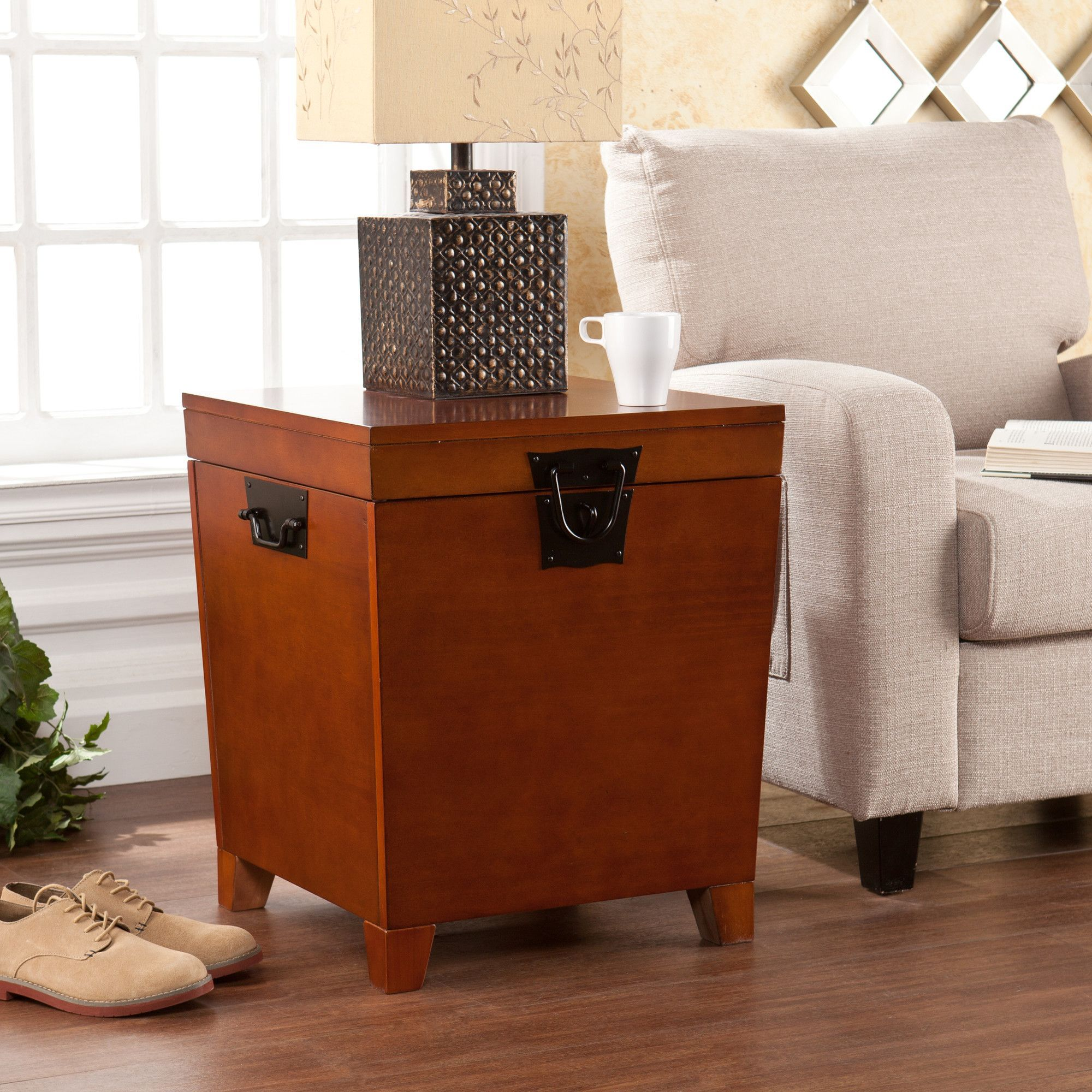 Side table with drawer  Boneta End Table With Storage  Storage and Products