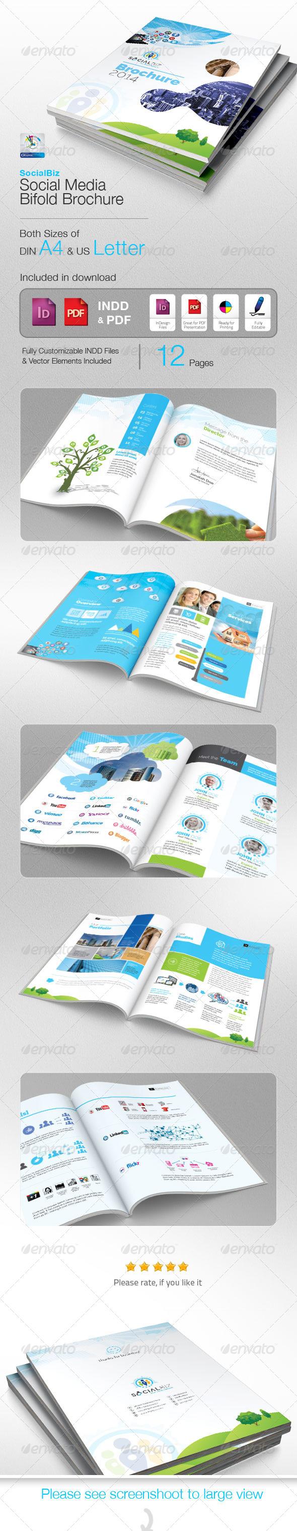 Socialbiz Professional Social Media Brochure  Brochures Annual