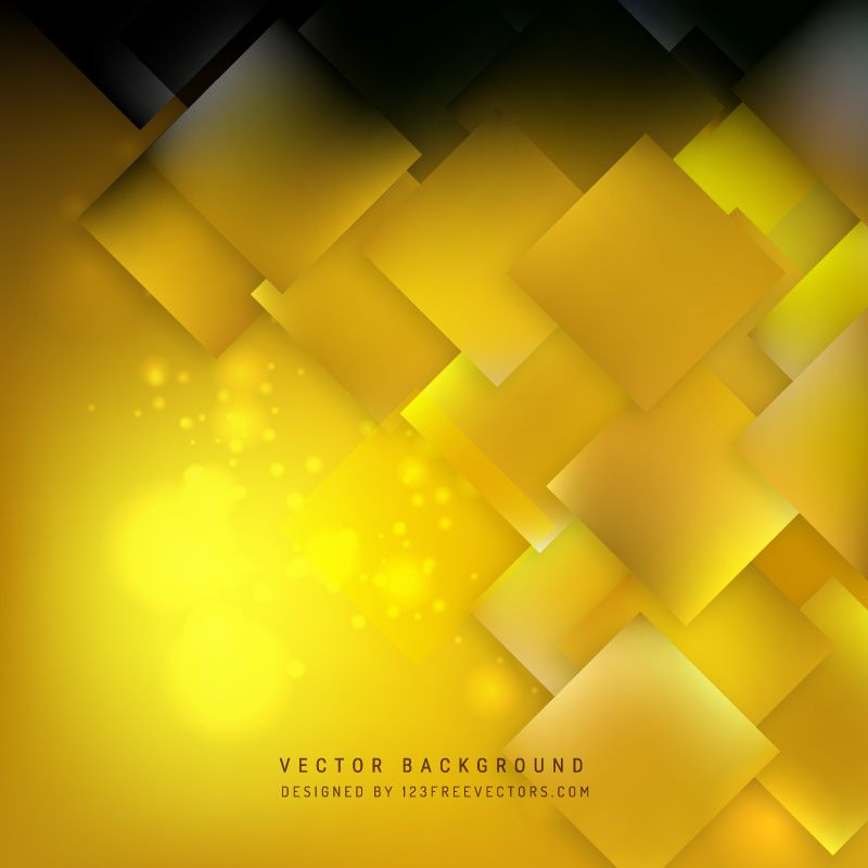 Abstract Black Gold Square Background Design Background