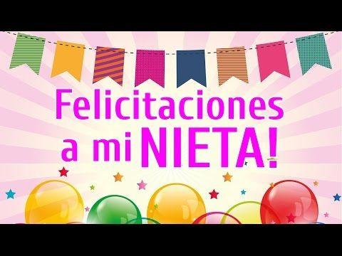 Felicitaciones A Mi Nieta De Cumpleaños Frases Para Una