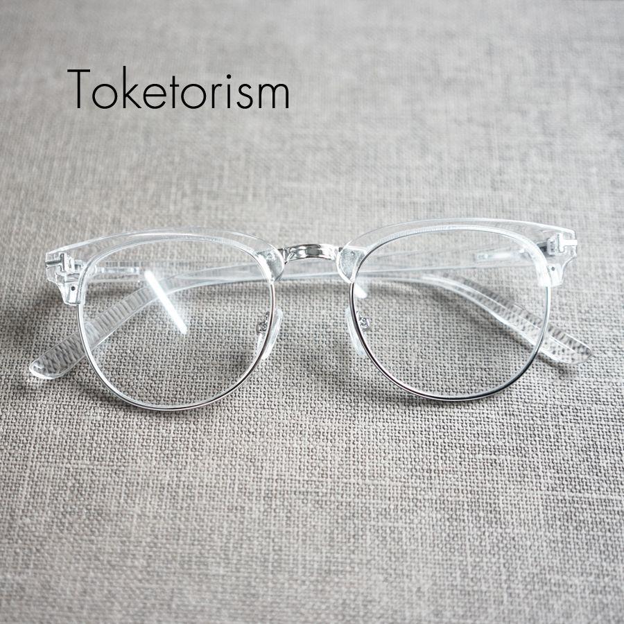 7a3b8d60bc6fc Toketorism Personalizada diseñador de moda gafas de marco transparente para  hombre y mujer en Marcos Eyewear de Ropa y Accesorios en AliExpress.com ...