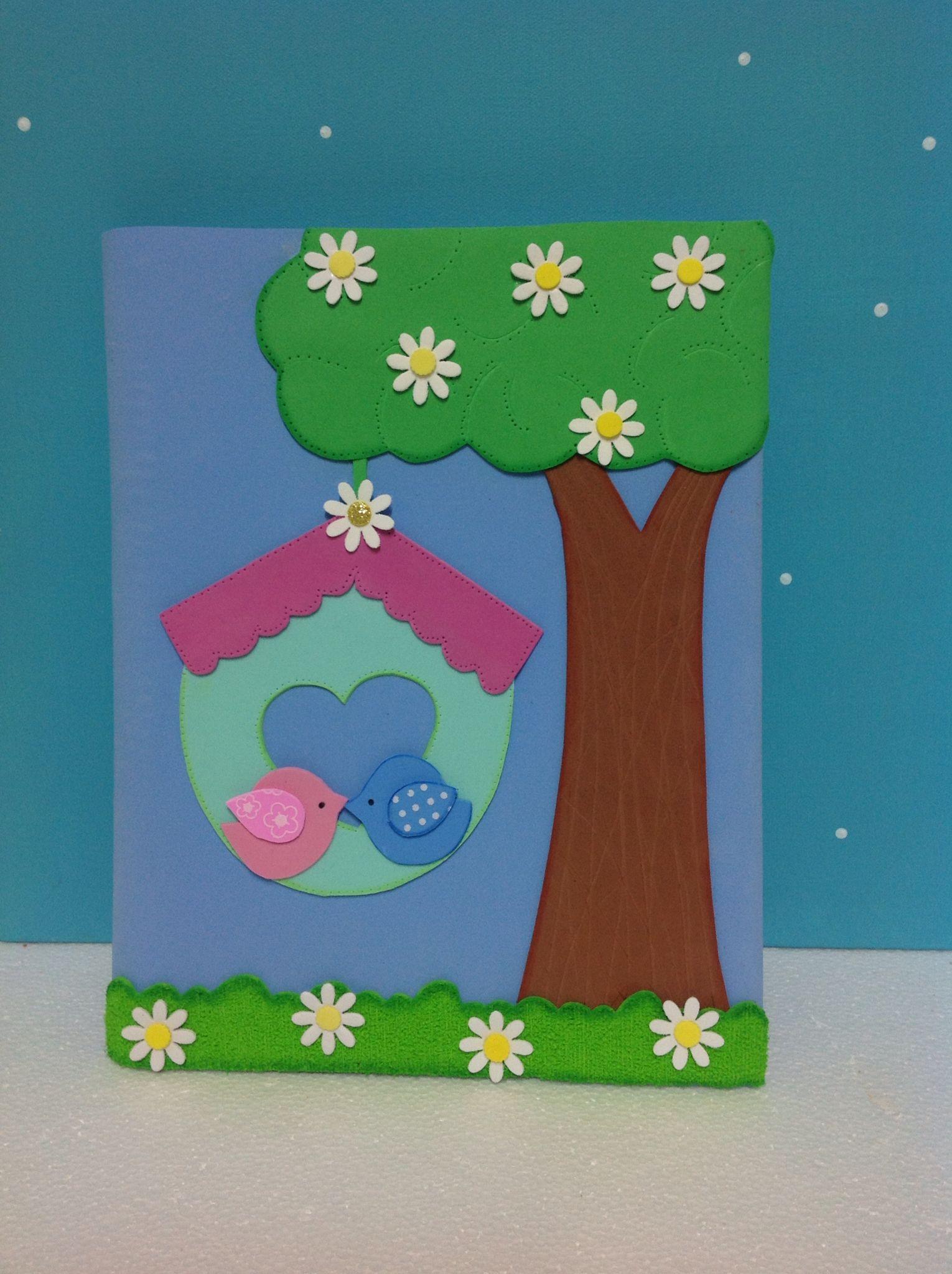Caderno decorado em Eva