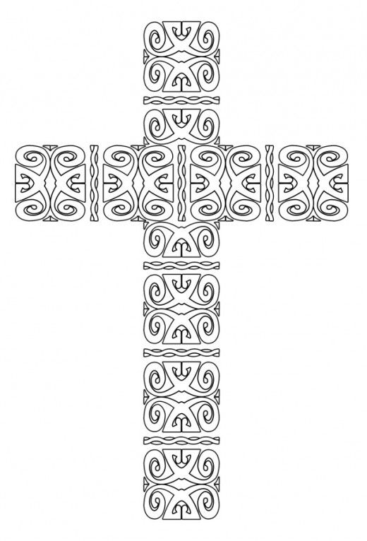free printable cross coloring pages  cross coloring page