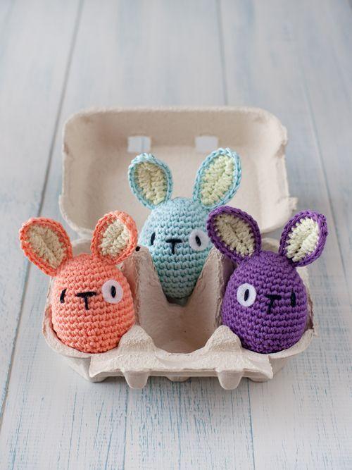 Crochet Easter egg bunnies - awww!! | Crochet/ amigurumi | Pinterest ...