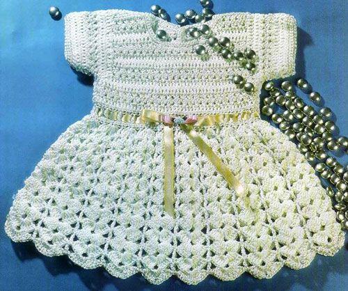 Платье крючком для девочки выкройка