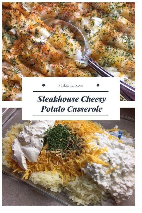 Cheesy Potato Casserole, a Steak House Classic #russetpotatorecipes