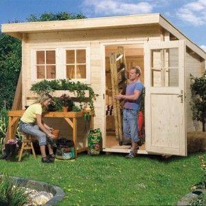 Abri de jardin bois 28mm Type 116 Toit monopente | Cabanon | Pinterest