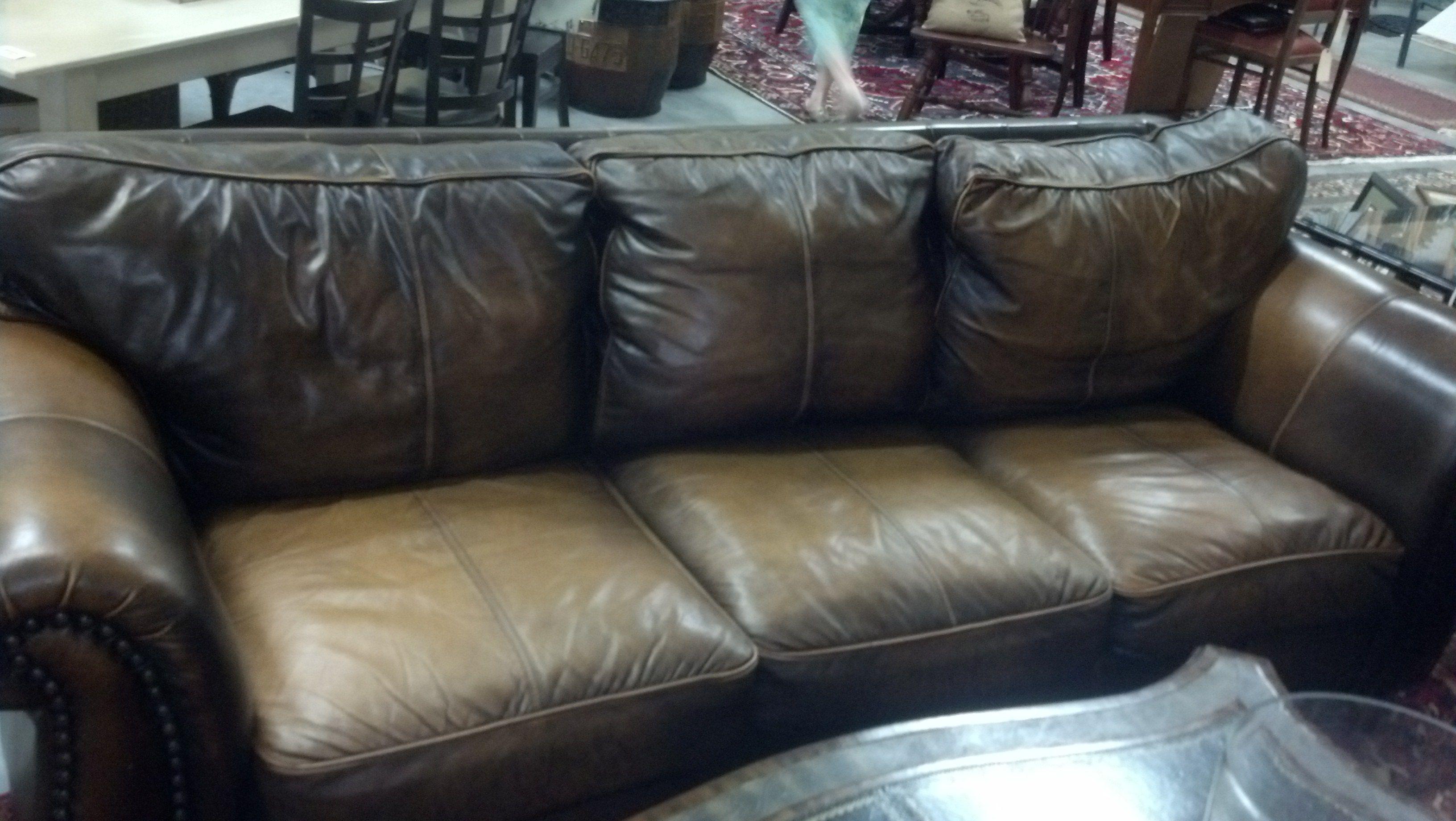 Super Soft Plush Leather Sofa With