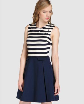 Vestido corto de mujer Tommy Hilfiger con estampado de rayas  73217aa1f2f9