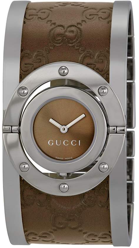 d2672646e0e Gucci Twirl Brown Dial Ladies Watch
