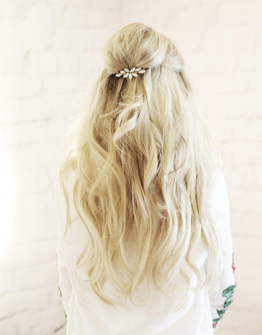 Hollywood Half Up Hair Tutorial With Sc 252 Nci Elegant