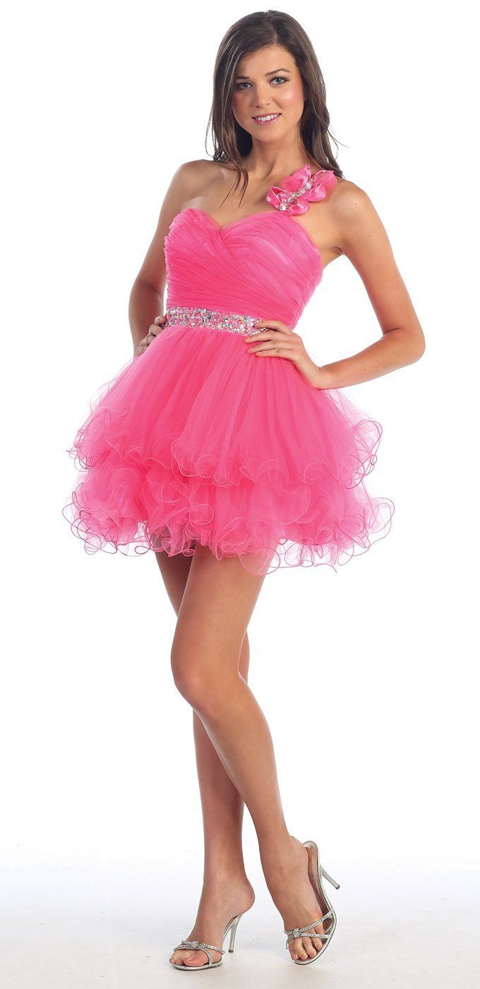 Formal dresses for teens one shoulder prom dress gowns tutu