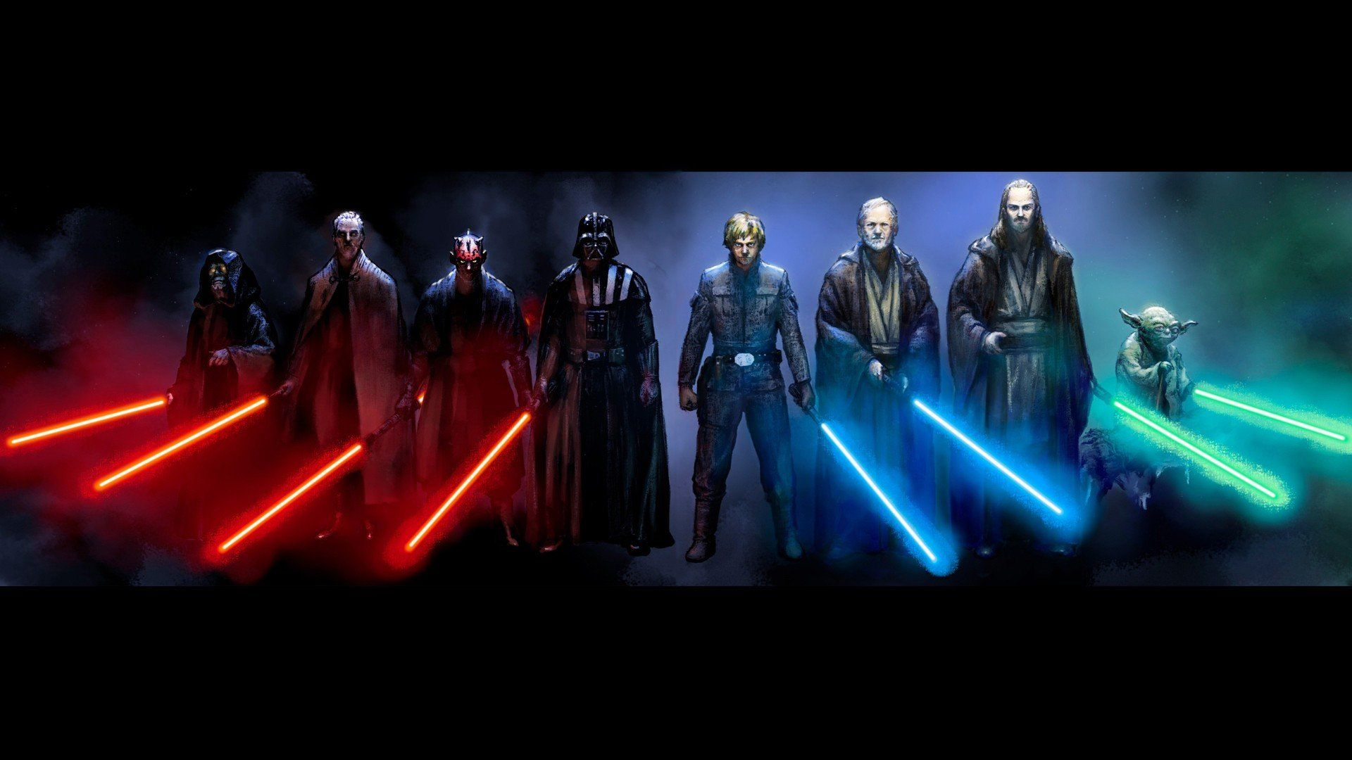 star wars lightsaber characters 1920x1080 wallpaper | sw
