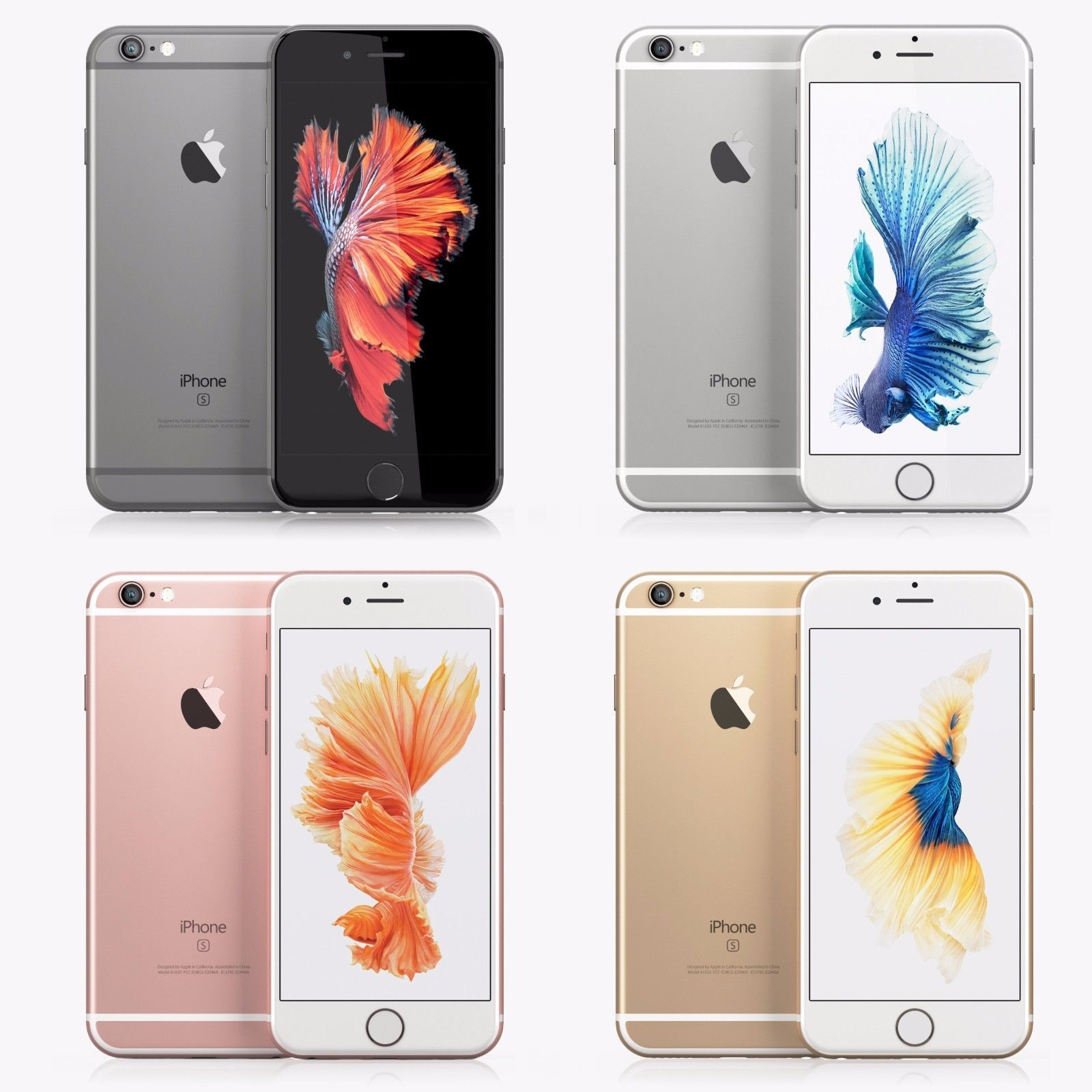 Apple Iphone 6s 16gb 64gb 128gb Factory Unlocked Smartphone All