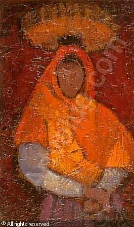 Femme au châle orange sold by Eric Pillon Enchères, Calais, on Sunday, November 11, 2001
