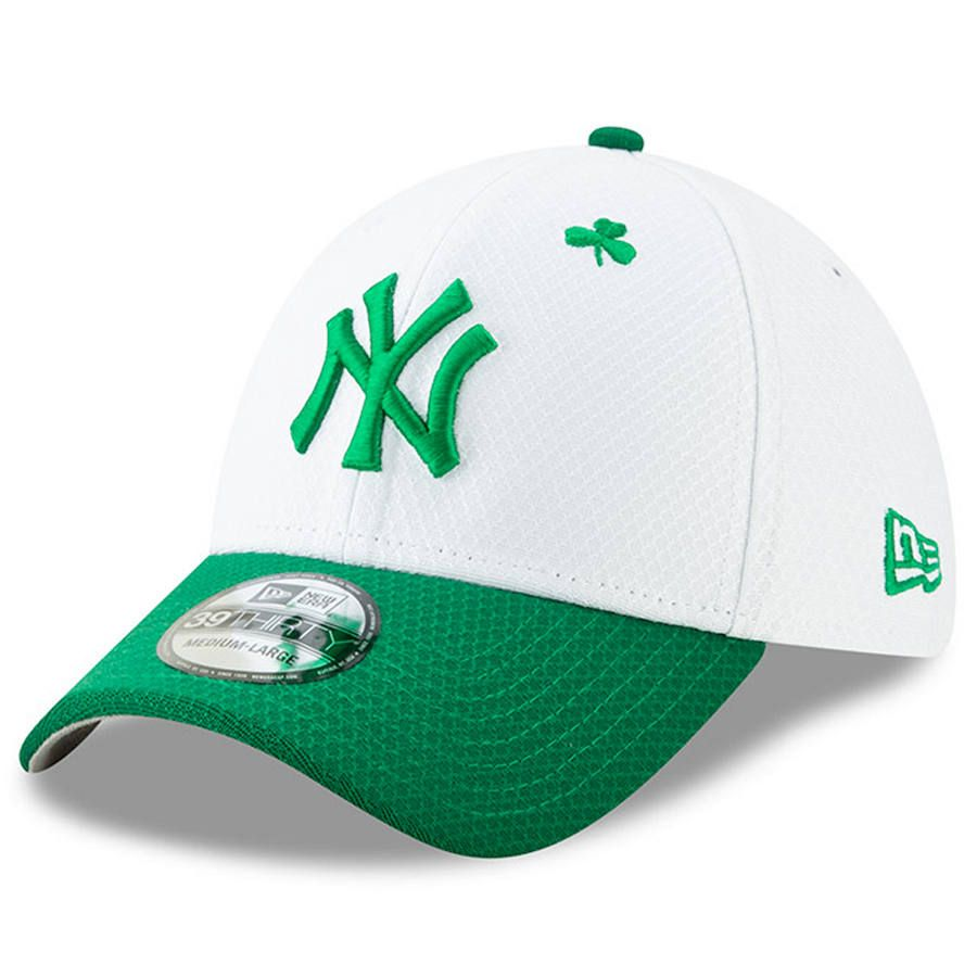new concept 4e052 fb214 Men s New York Yankees New Era White Kelly Green 2019 St. Patrick s Day 39THIRTY  Flex Hat,  35.99