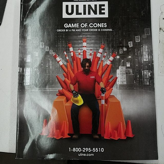 GAME OF CONES!!! Wonder where ULINE got that from